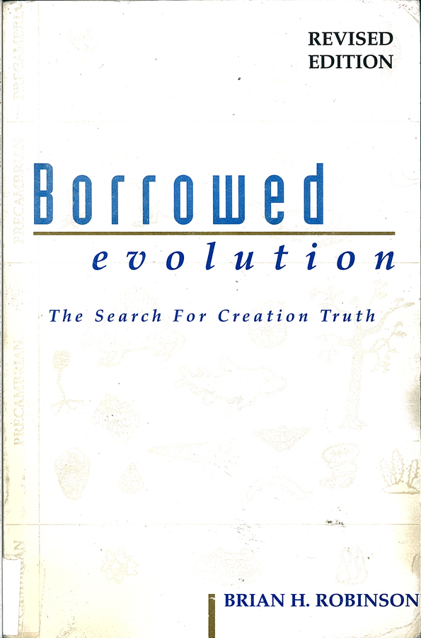 Picture of the front cover of the book entitled Borrowed Evolution.