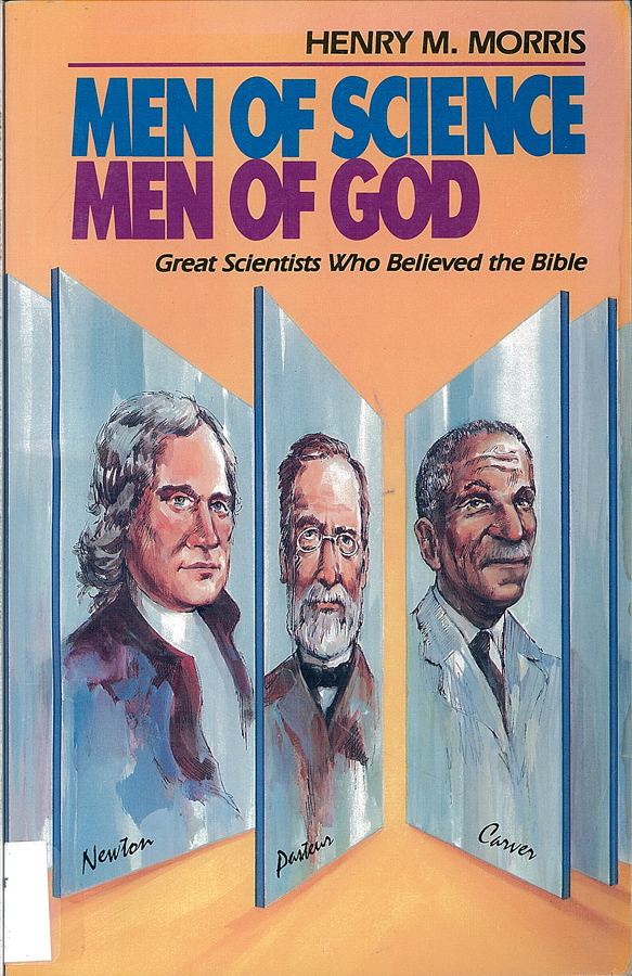 Picture of the front cover of the book entitled Men of Science Men of God.