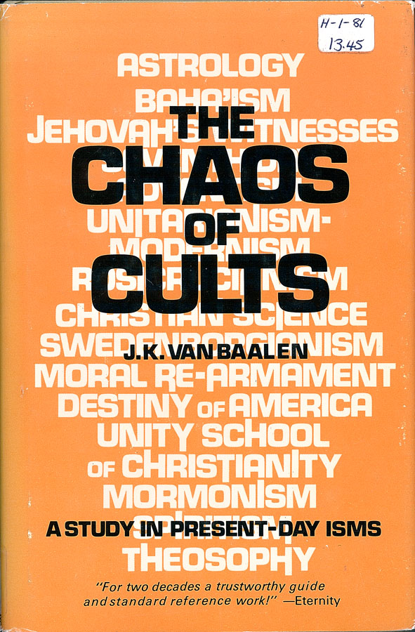 Picture of the front cover of the book entitled The Chaos of Cults.