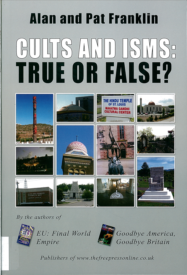 Picture of the front cover of the book entitled Cults and Isms.