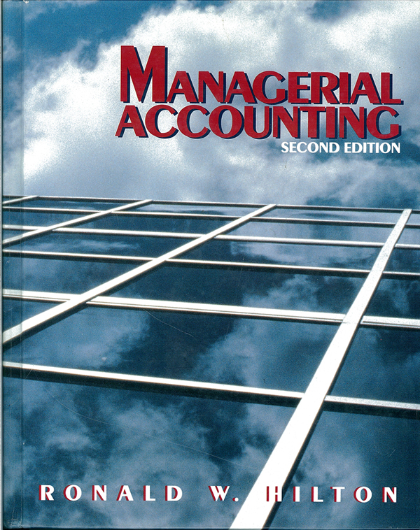 Picture of the front cover of the book entitled Managerial Accounting.