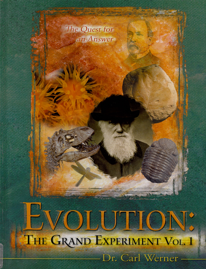 Picture of the front cover of the book entitled Evolution: The Grand Experiment.