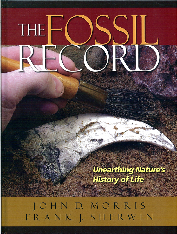 Picture of the front cover of the book entitled The Fossil Record.