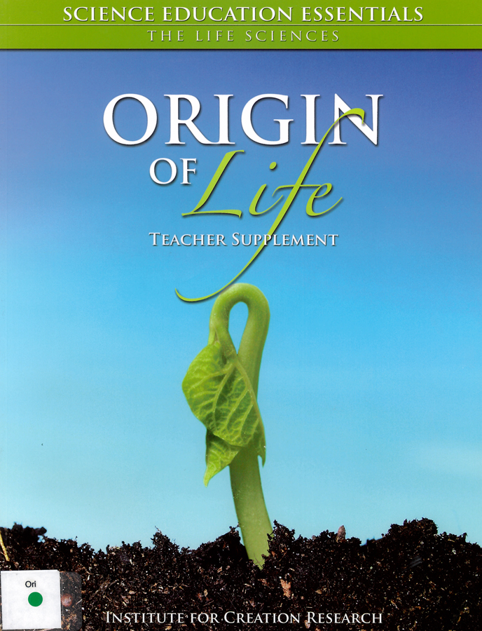 Picture of the front cover of the book entitled Origin of Life.