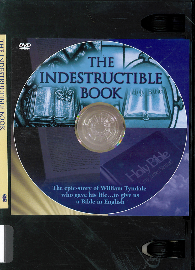 Picture of the front cover of the DVD entitled The Indestructible Book.