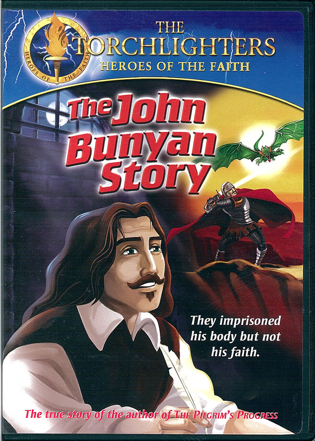 Picture of the front cover of the DVD entitled The John Bunyan Story.