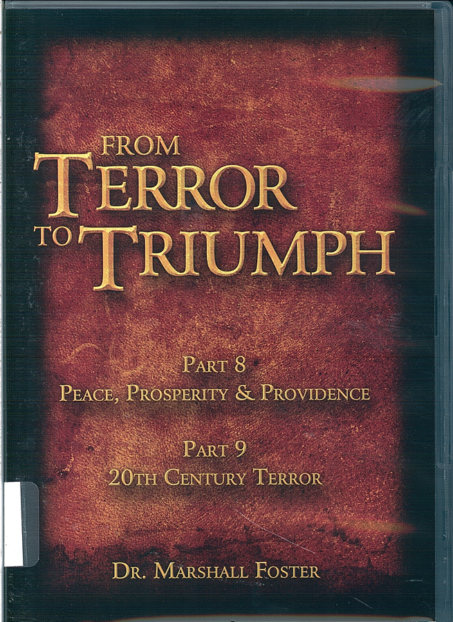 Picture of the front cover of the DVD entitled From Terror to Triumph Part 8 and Part 9.