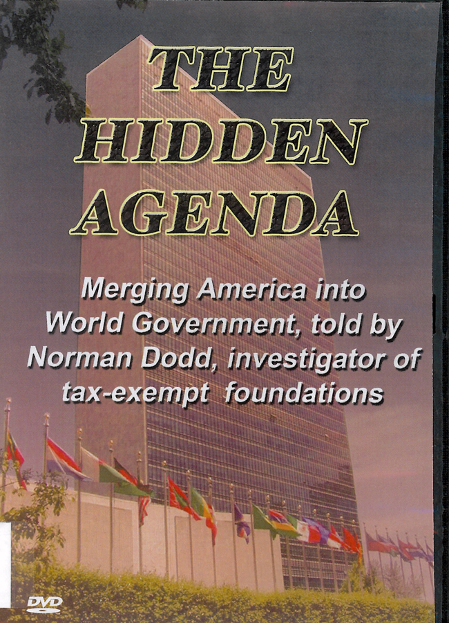 Picture of the front cover of the DVD entitled The Hidden Agenda.