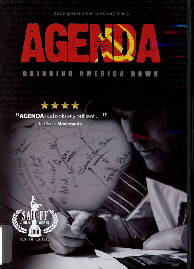 Picture of the front cover of the DVD entitled Agenda: Grinding America Down.