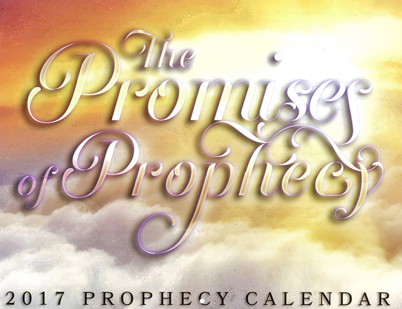 Front Cover: 2016 Prophecy Calendar