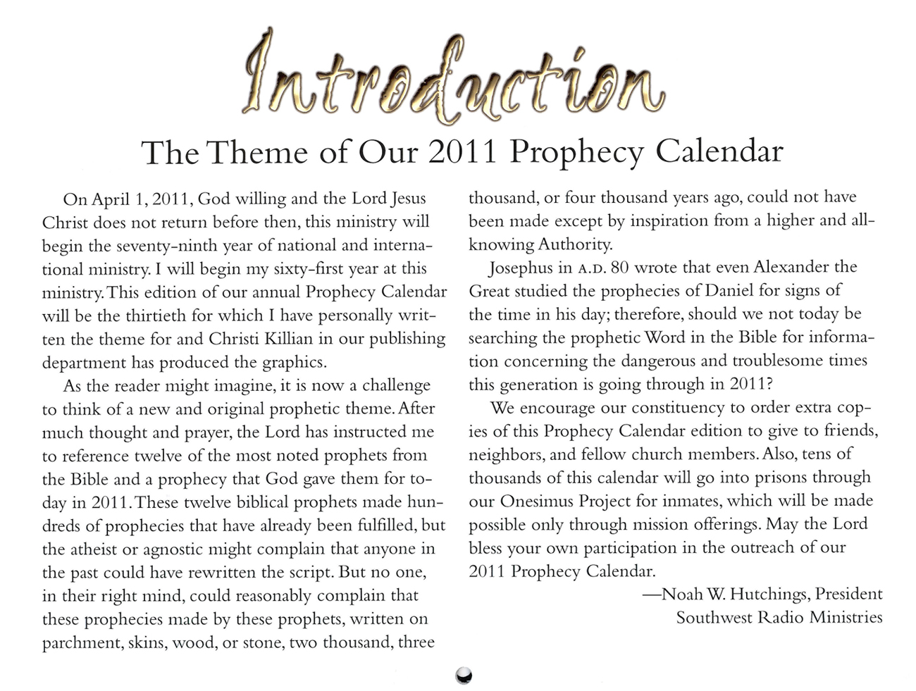 2011 Prophecy Calendar: Ancient Prophecies for Today