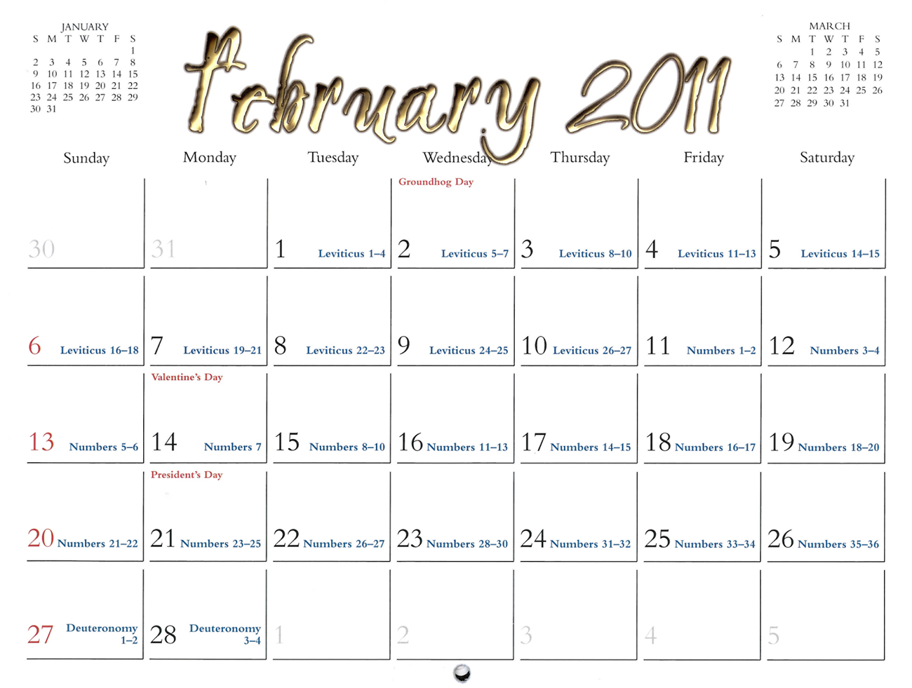 2011 Prophecy Calendar: February - Prophecies of Isaiah