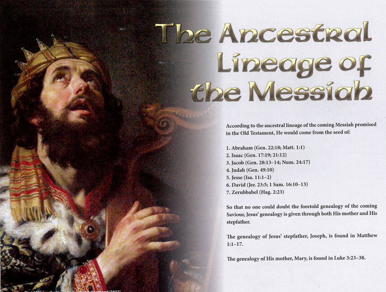 2013 Prophecy Calendar: February - The Ancestral Lieage of the Messiah