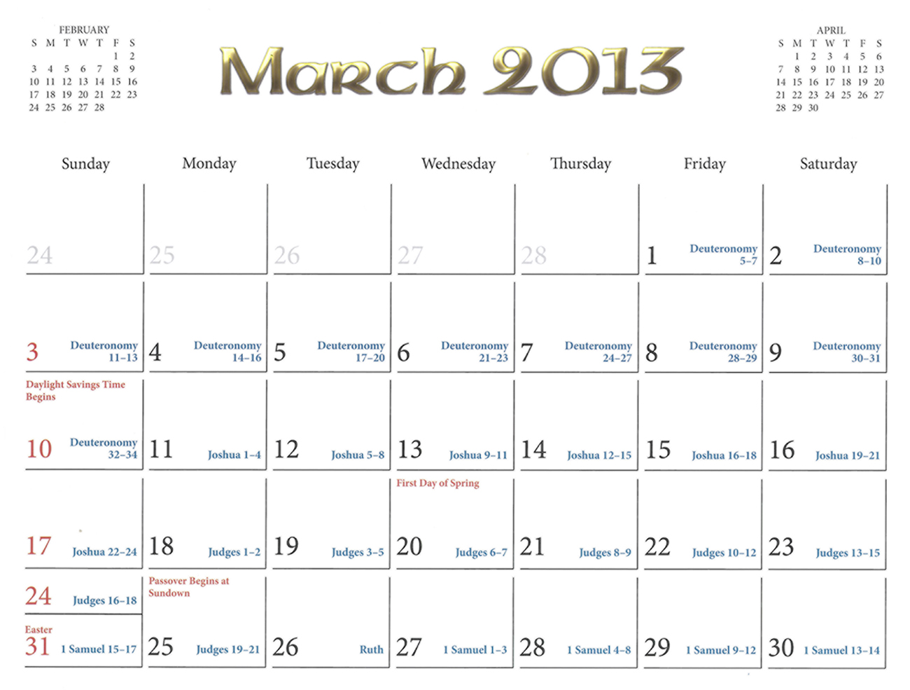 2013 Prophecy Calendar: March - Place of His Birth and Time of His Coming