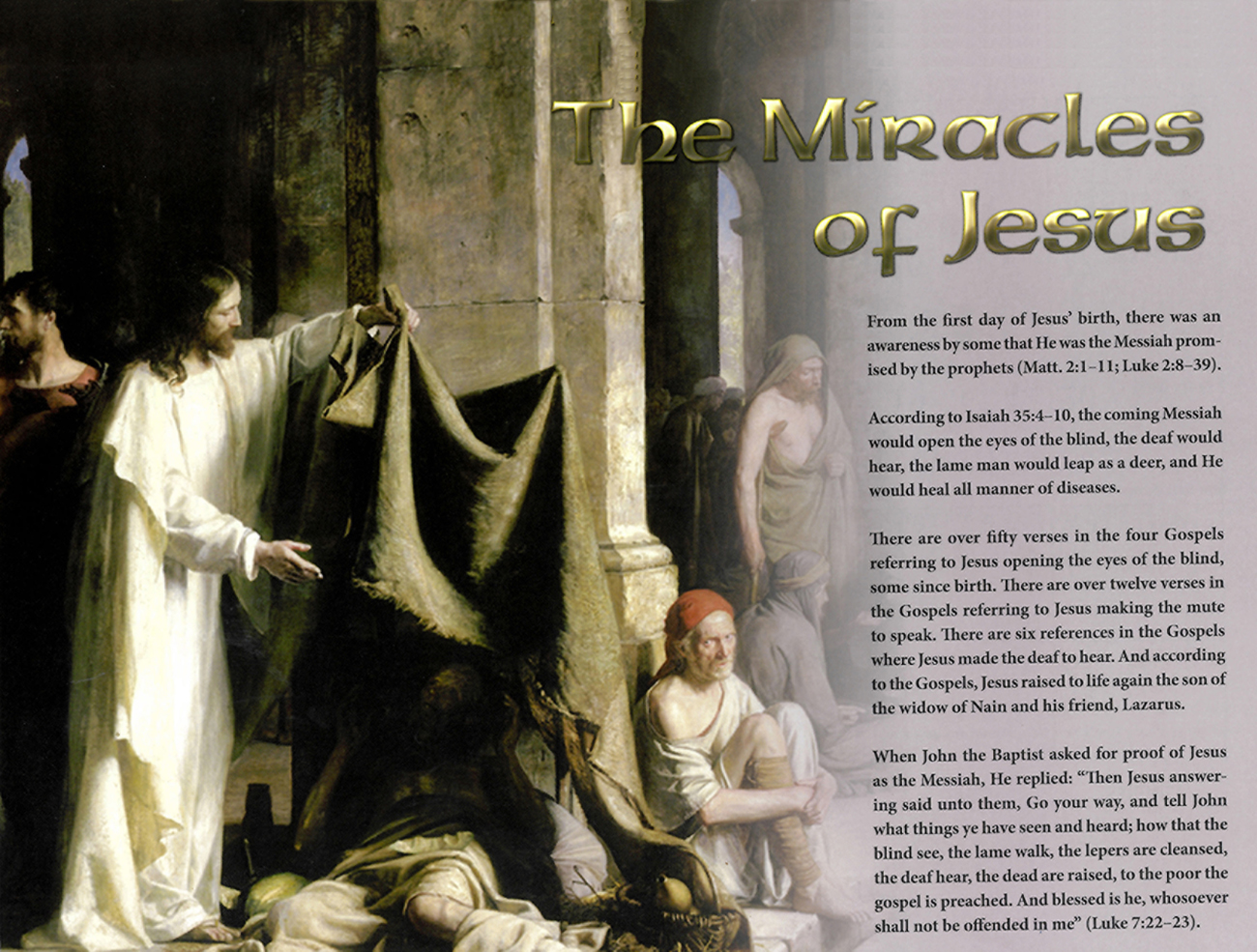 2013 Prophecy Calendar: May - The Miracles of Jesus
