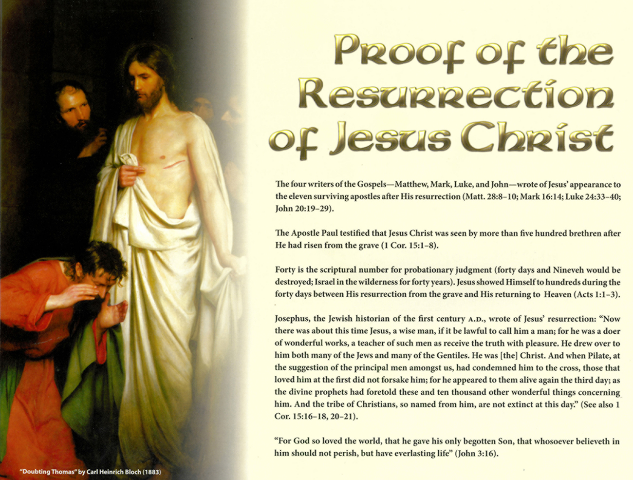 2013 Prophecy Calendar: September - Proof of the Resurrection of Jesus Christ