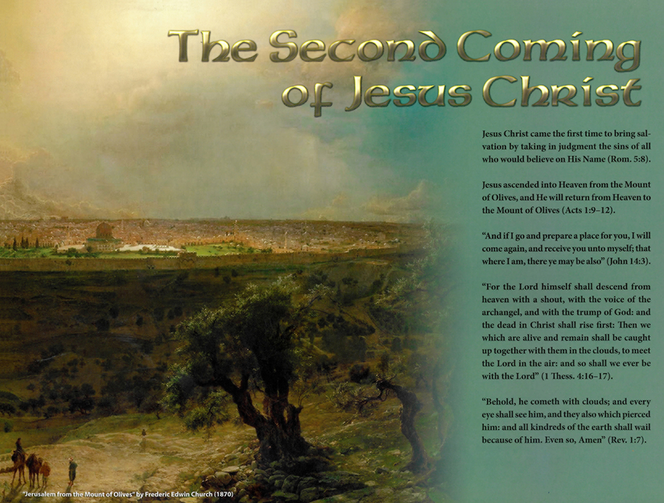 2013 Prophecy Calendar: November - The Second Coming of Jesus Christ