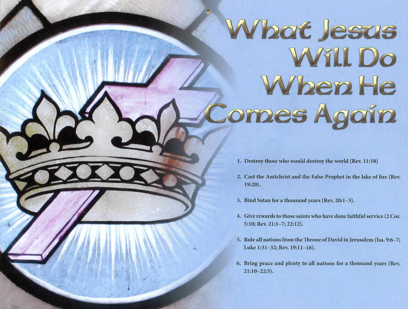 2013 Prophecy Calendar: December - What Jesus Will Do When He Comes Again