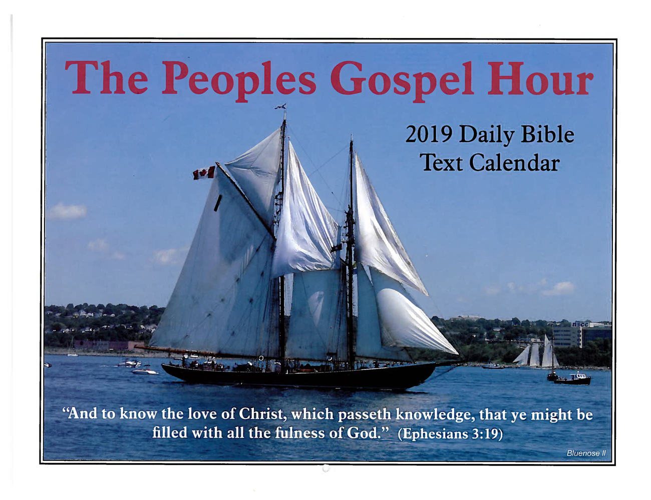 Front Cover: 2019 The Peoples Gospel Hour Calendar