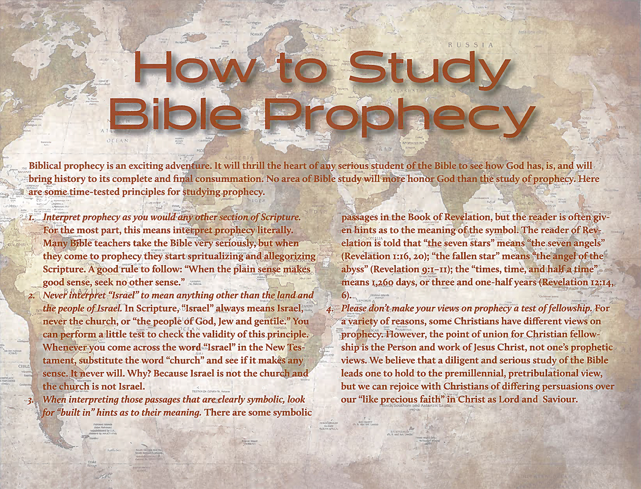 2015 Prophecy Calendar: How to Study Bible Prophecy