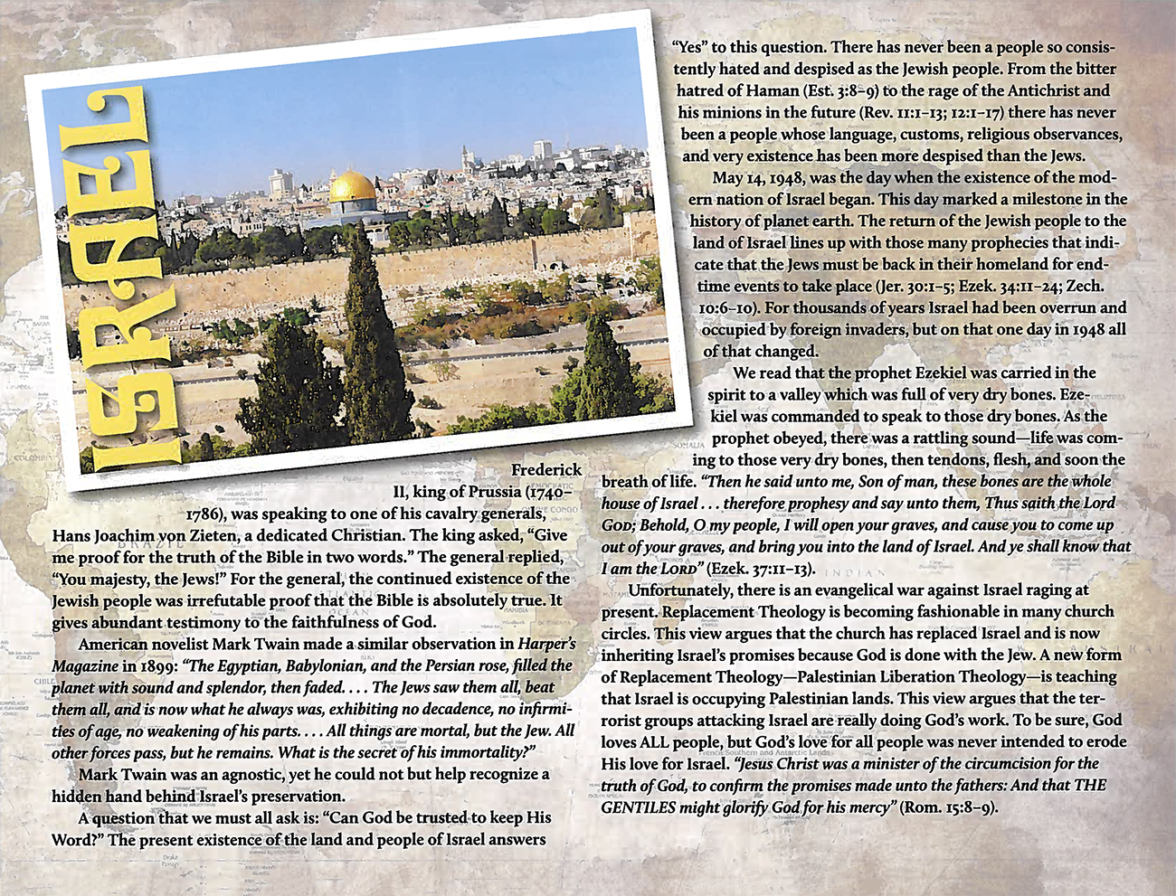 2015 Prophecy Calendar: May - Israel