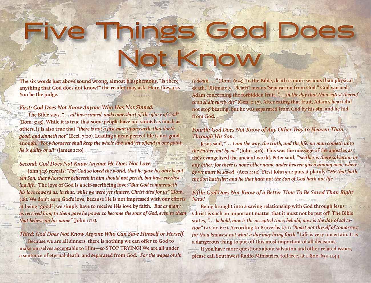 2015 Prophecy Calendar: Five Things God Does Not Know