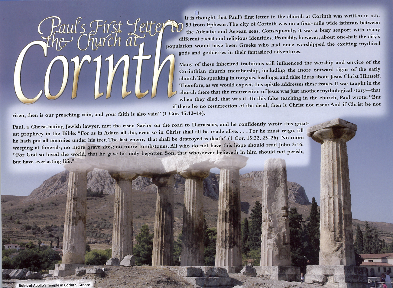 2012 Prophecy Calendar: February - Paul's First Letter to the Chuirch at Corinth