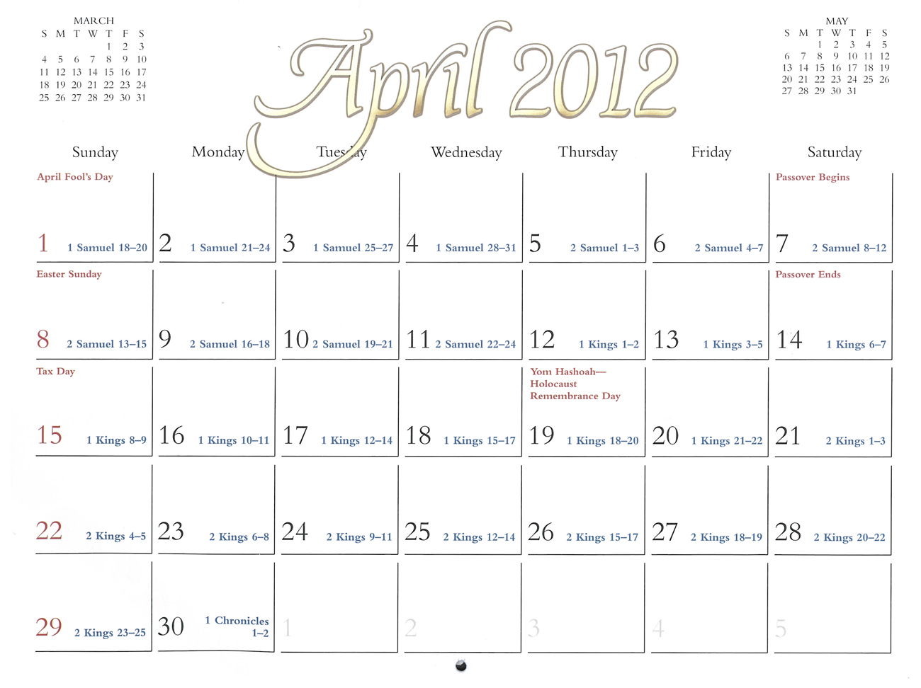 2012 Prophecy Calendar: April - Paul's Letter to the Churches in Galatia