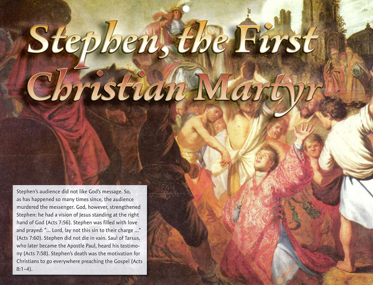 2016 Prophecy Calendar: February - Stephen, the First Christian Martyr