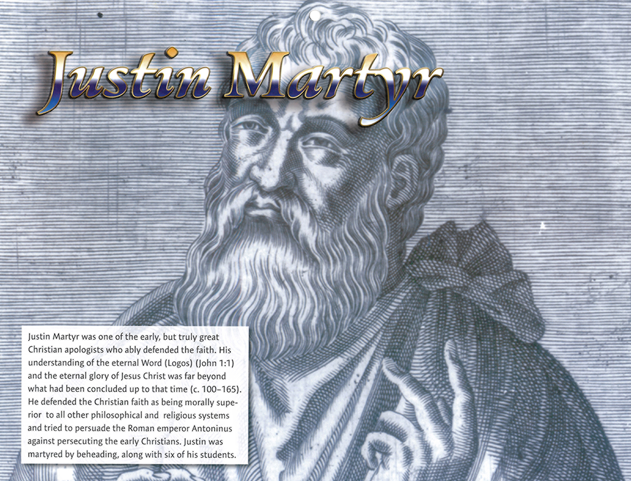 2016 Prophecy Calendar: March - Justin Martyr