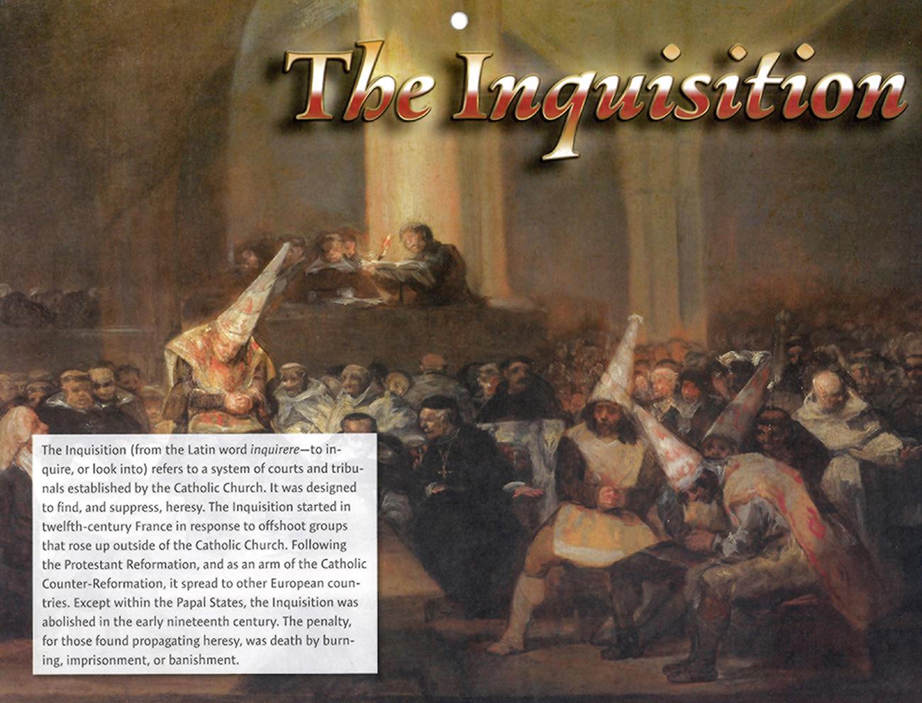 2016 Prophecy Calendar: July - The Inquisition