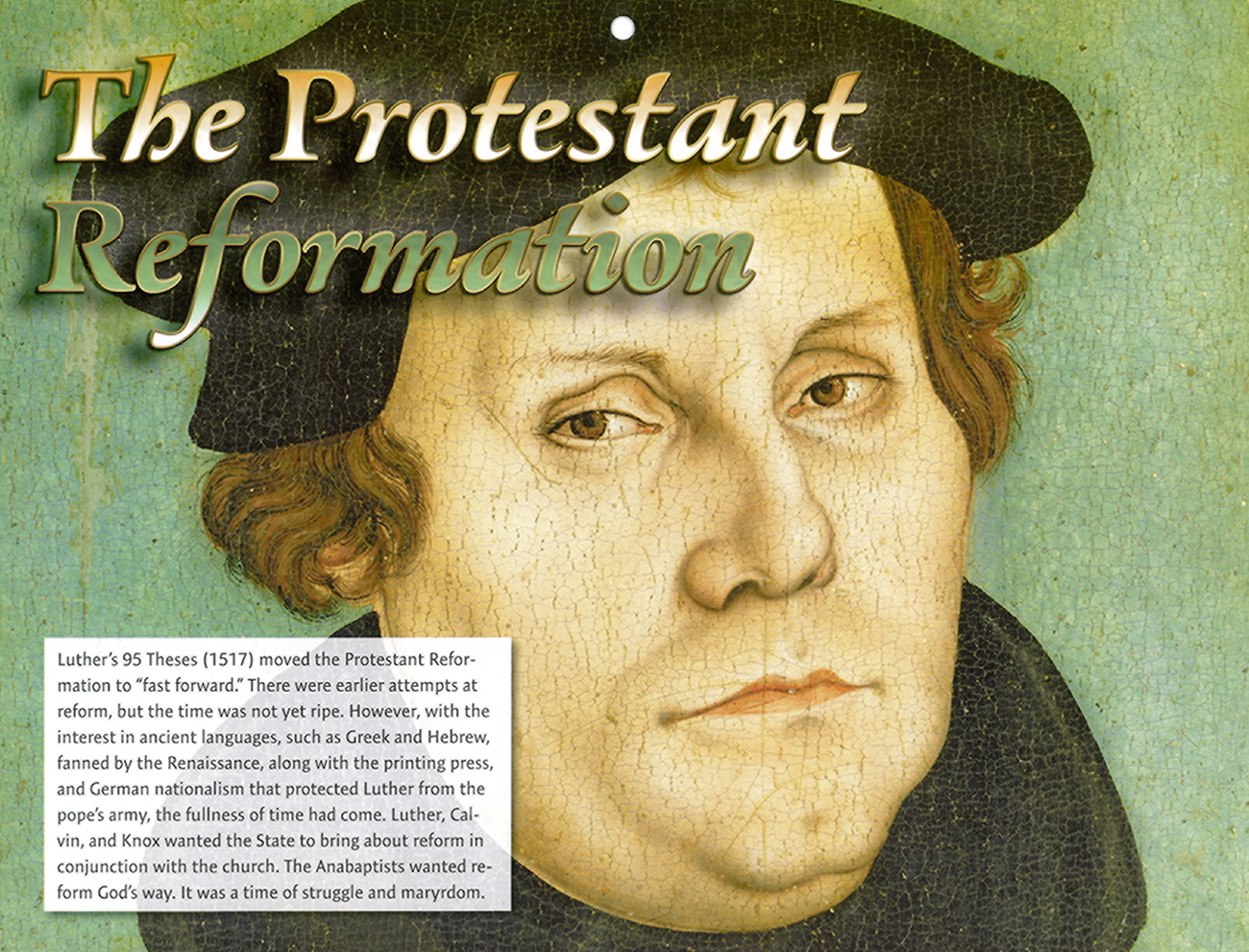 2016 Prophecy Calendar: August - The Protestant Reformation