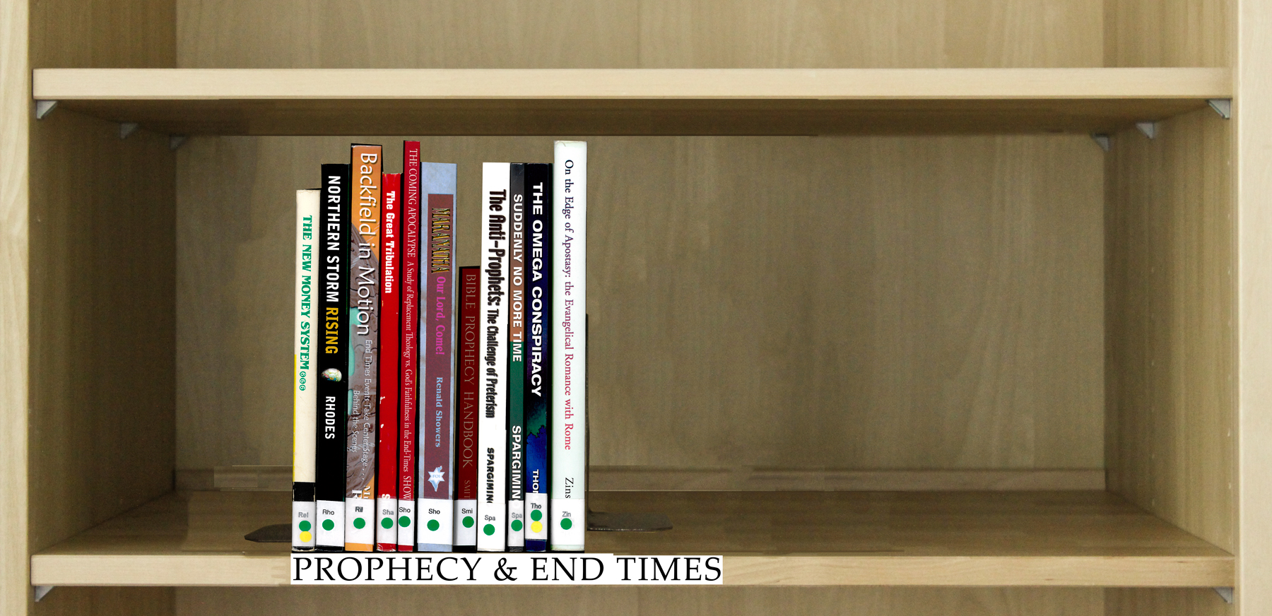 Index of Books Under the Category Prophecy & End Times.