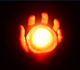 Picture of a hand holding a fire ball.